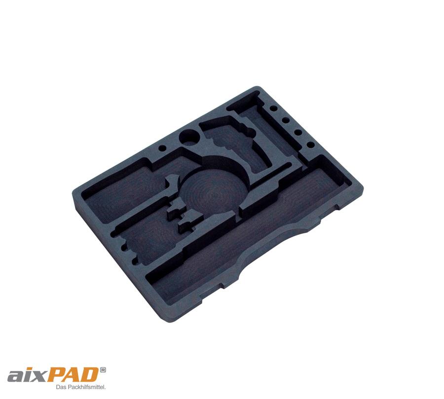 aixPAD Verpackungsschaumstoff Koffereinlagen - Koffereinsatz für Gerätekoffer, Präsentationskoffer, Maschinenkoffer